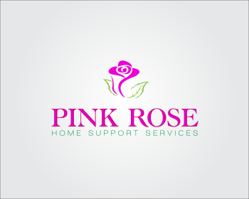 Logo Design by GraySource - Entry No. 144 in the Logo Design Contest Pink Rose Home Support Services.