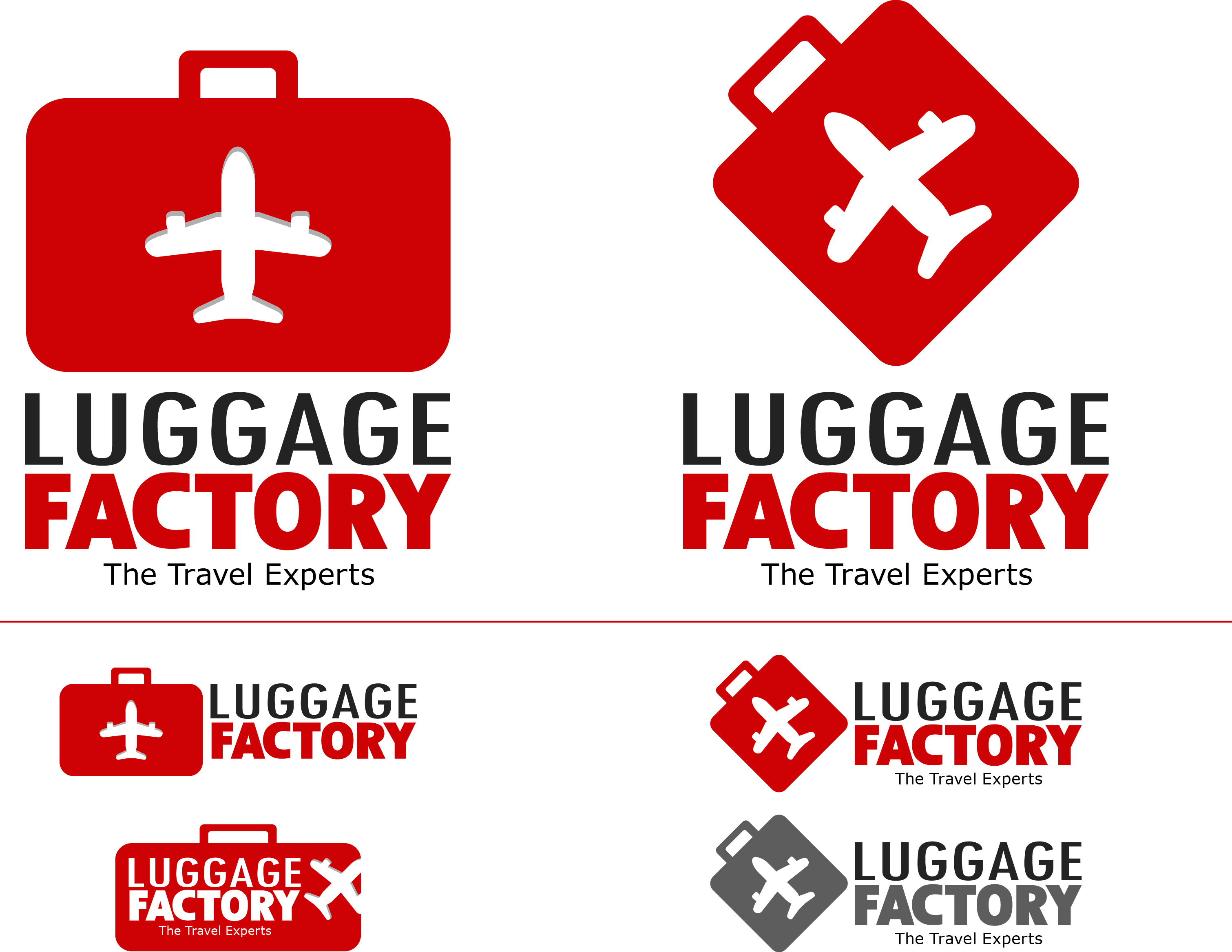 Logo Design by Andrew Velasco - Entry No. 2 in the Logo Design Contest Creative Logo Design for Luggage Factory.