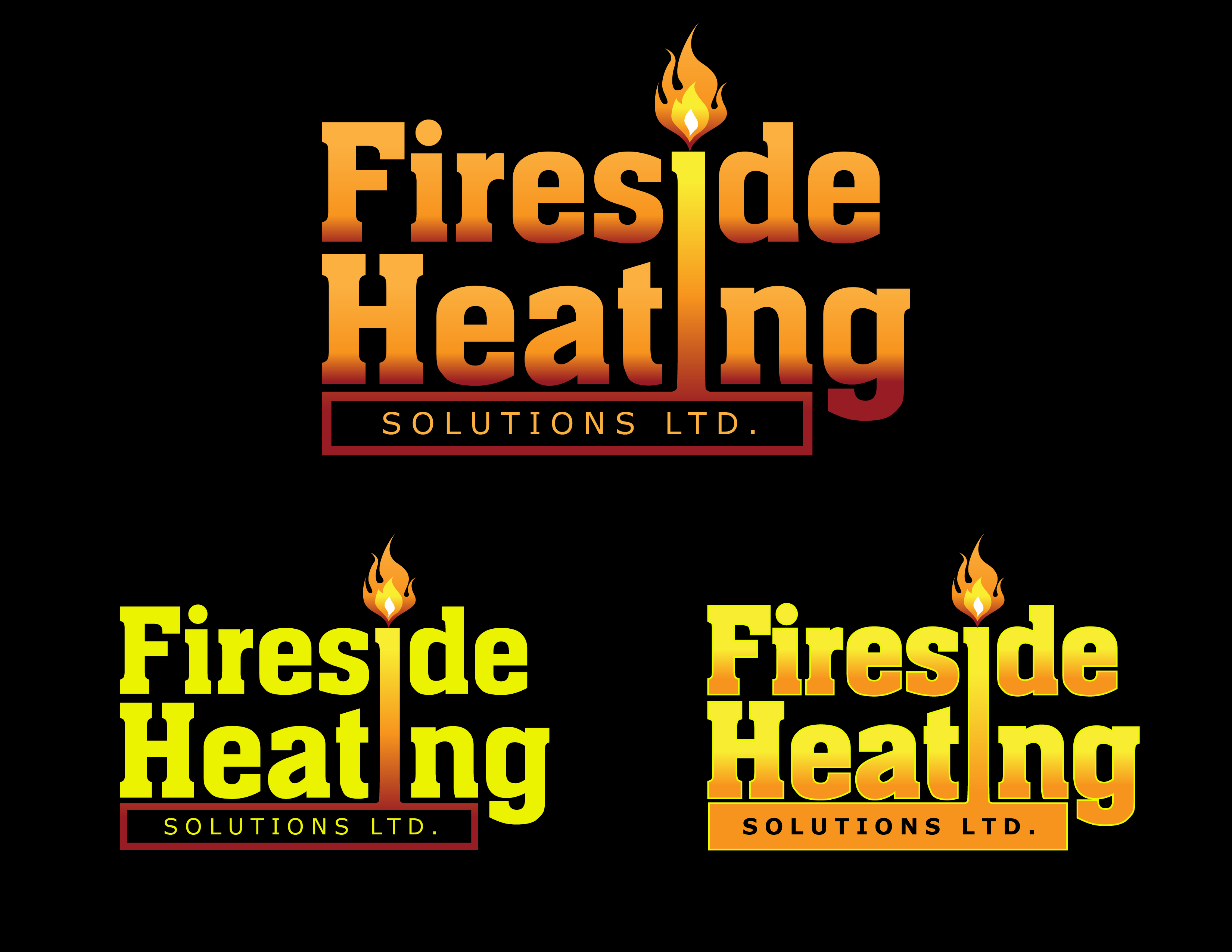 Logo Design by Andrew Velasco - Entry No. 2 in the Logo Design Contest Creative Logo Design for Fireside Heating Solutions Ltd..