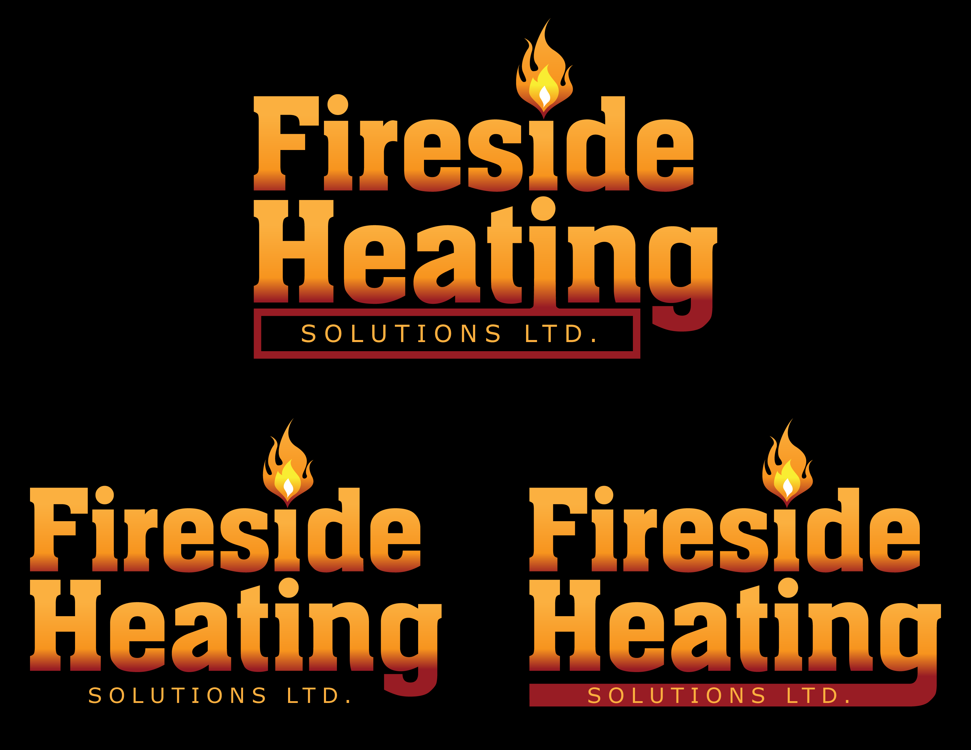 Logo Design by Andrew Velasco - Entry No. 4 in the Logo Design Contest Creative Logo Design for Fireside Heating Solutions Ltd..