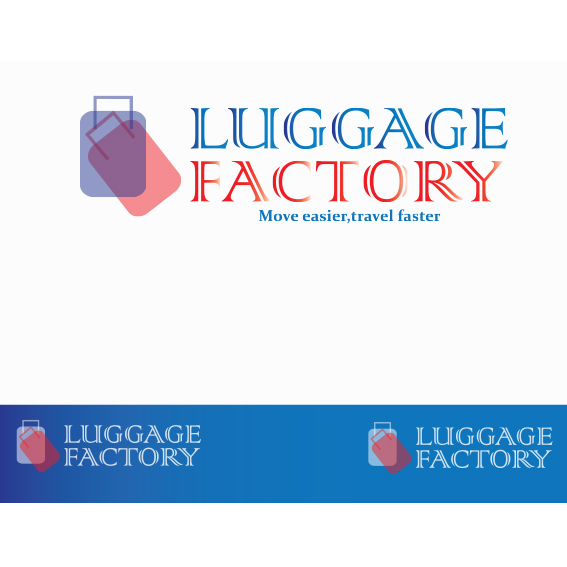 Logo Design by Kelvin Goche - Entry No. 6 in the Logo Design Contest Creative Logo Design for Luggage Factory.