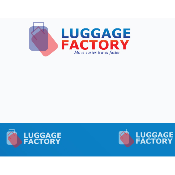 Logo Design by Kelvin Goche - Entry No. 7 in the Logo Design Contest Creative Logo Design for Luggage Factory.