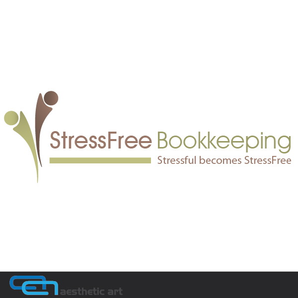 Logo Design by aesthetic-art - Entry No. 50 in the Logo Design Contest StressFree Bookkeeping.