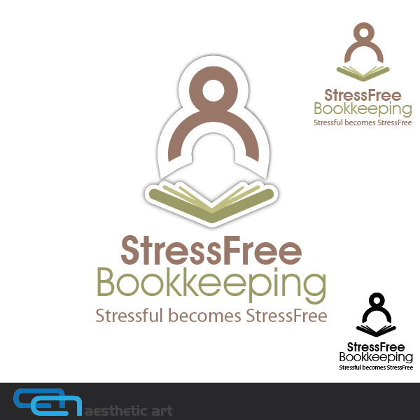Logo Design by aesthetic-art - Entry No. 51 in the Logo Design Contest StressFree Bookkeeping.