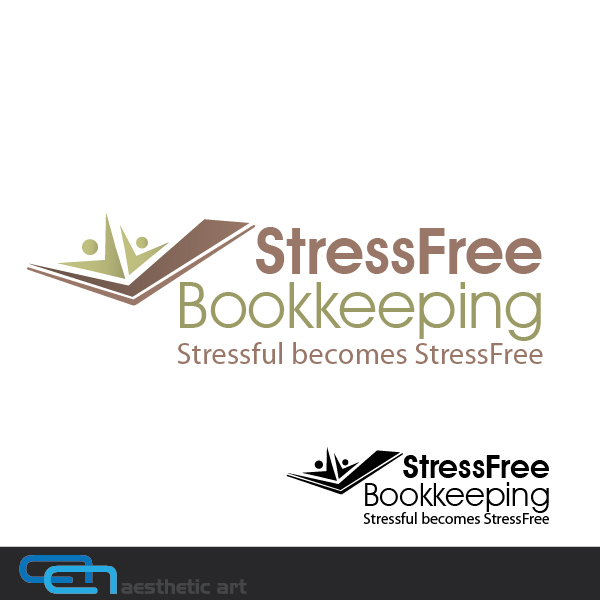 Logo Design by aesthetic-art - Entry No. 52 in the Logo Design Contest StressFree Bookkeeping.