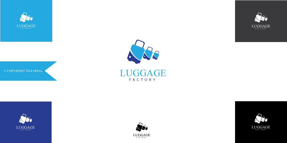 Logo Design by ARSAL ARSAL - Entry No. 24 in the Logo Design Contest Creative Logo Design for Luggage Factory.