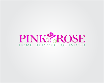 Logo Design by GraySource - Entry No. 145 in the Logo Design Contest Pink Rose Home Support Services.