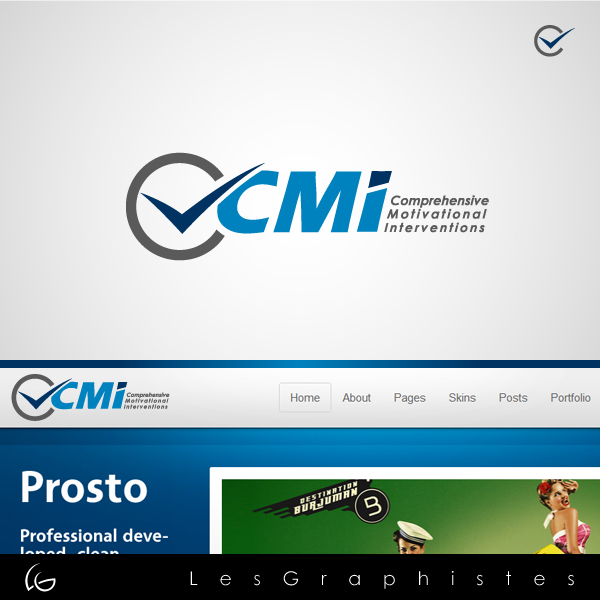 Logo Design by Les-Graphistes - Entry No. 35 in the Logo Design Contest CMI (Comprehensive Motivational Interventions).