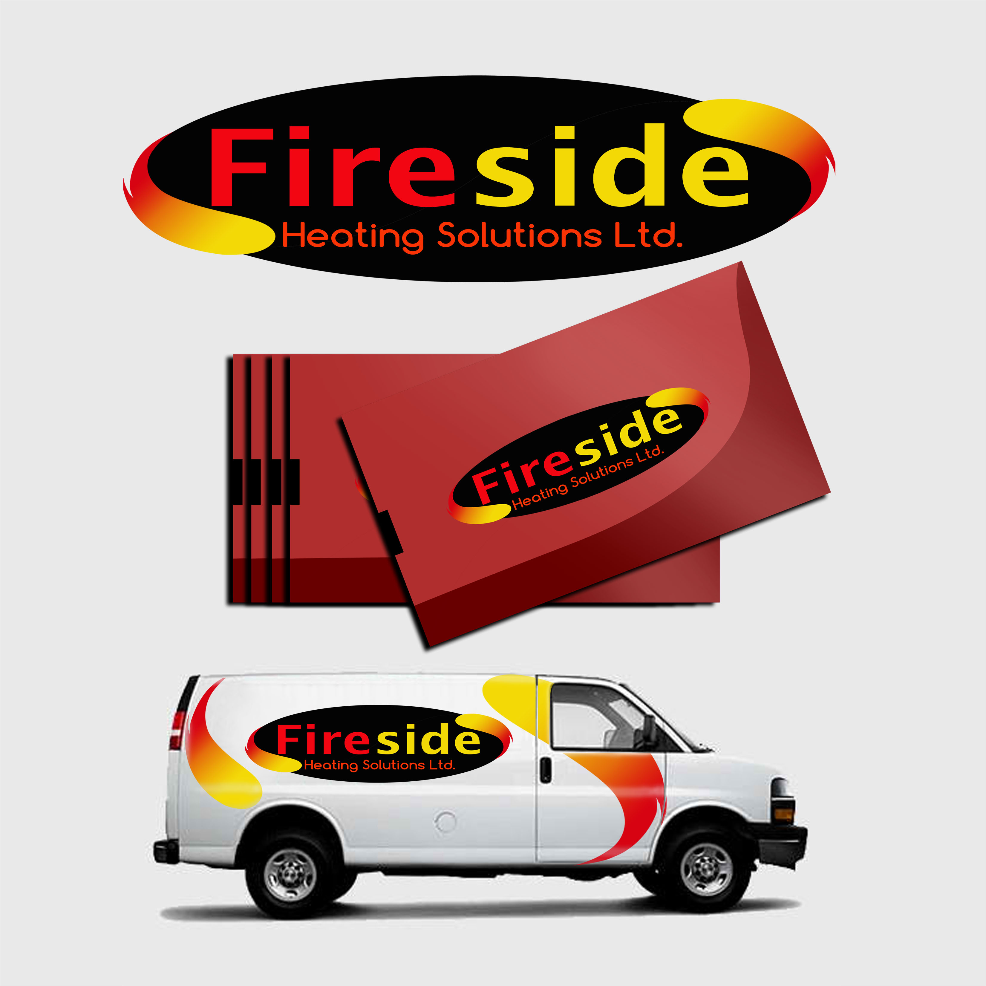 Logo Design by Allan Esclamado - Entry No. 37 in the Logo Design Contest Creative Logo Design for Fireside Heating Solutions Ltd..