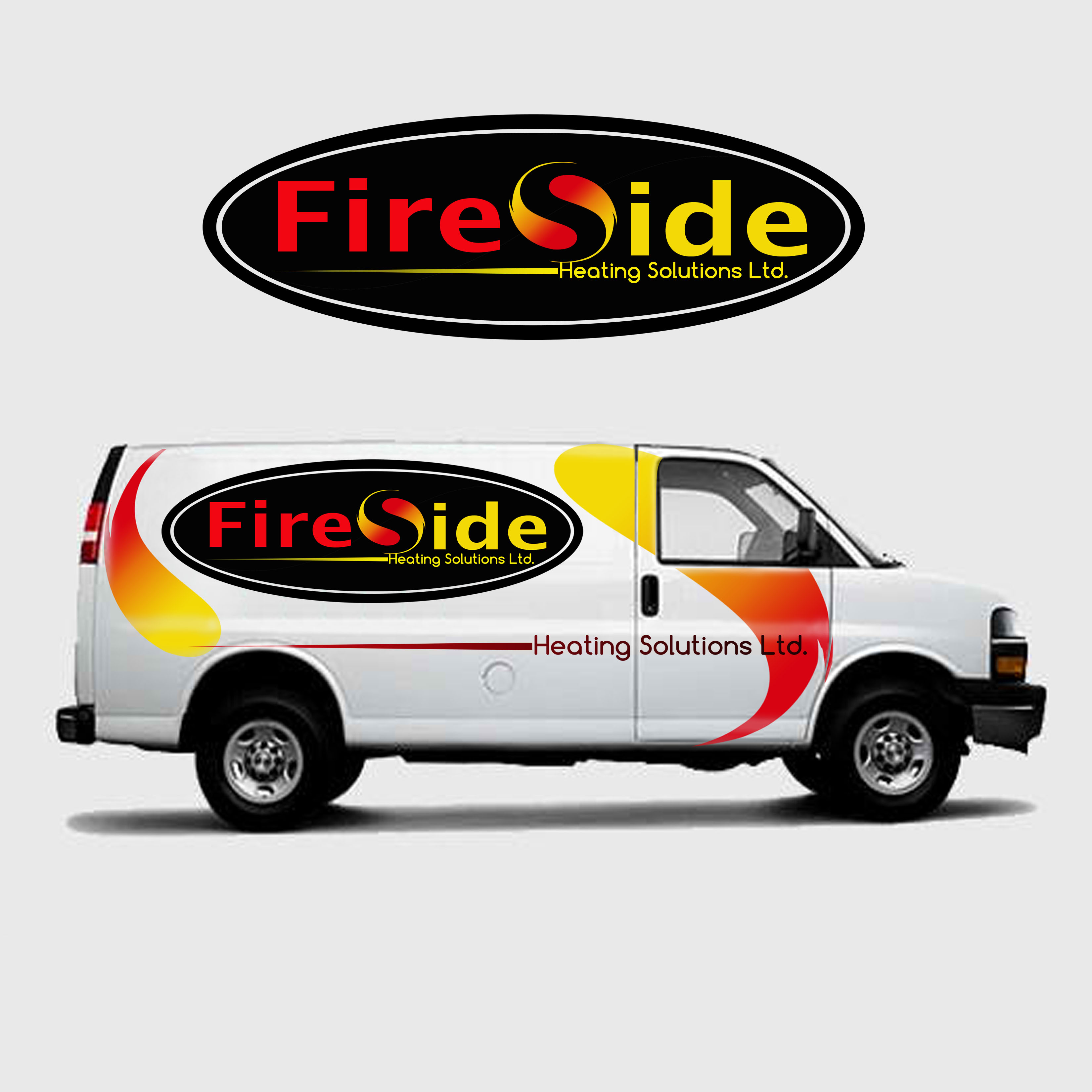 Logo Design by Allan Esclamado - Entry No. 38 in the Logo Design Contest Creative Logo Design for Fireside Heating Solutions Ltd..