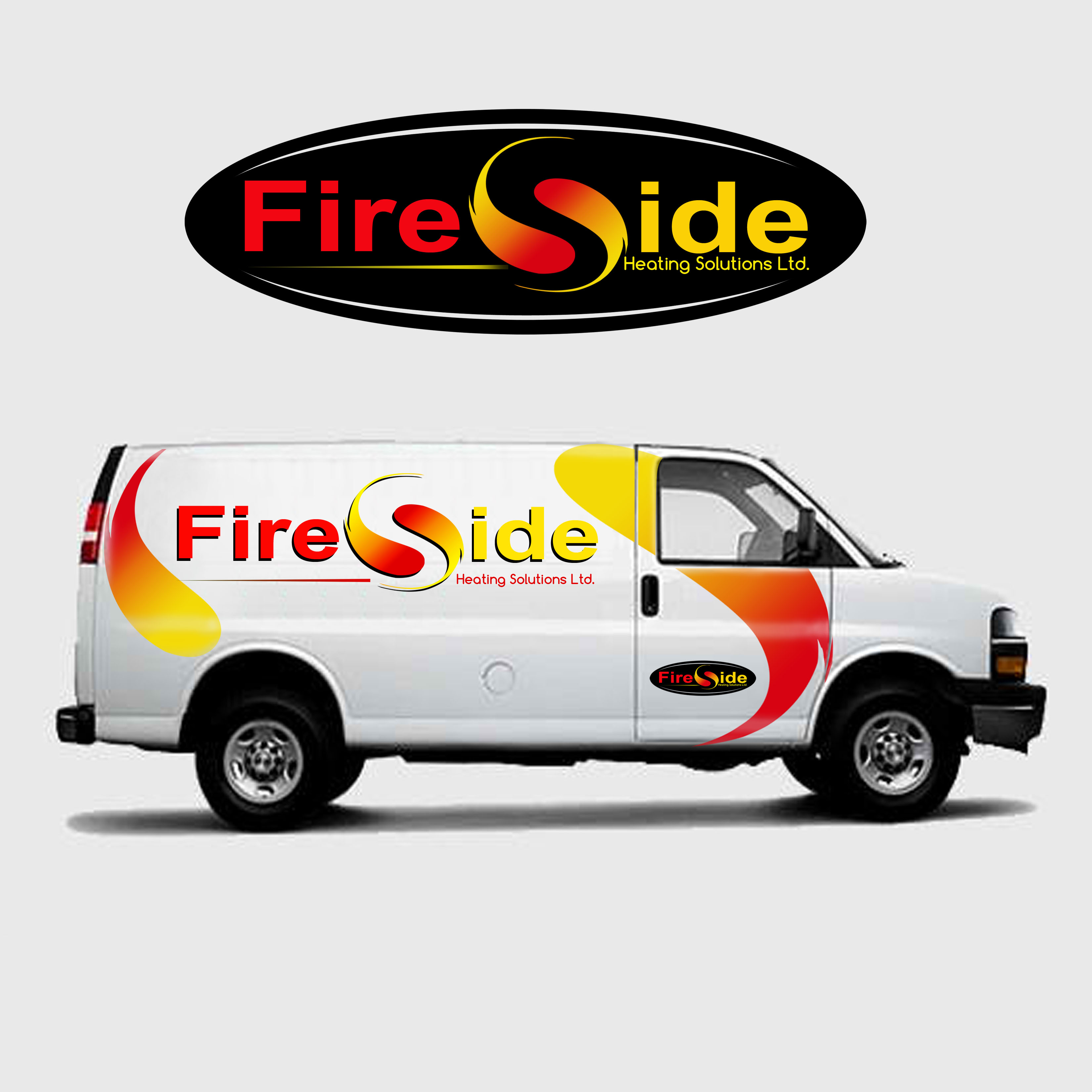 Logo Design by Allan Esclamado - Entry No. 39 in the Logo Design Contest Creative Logo Design for Fireside Heating Solutions Ltd..