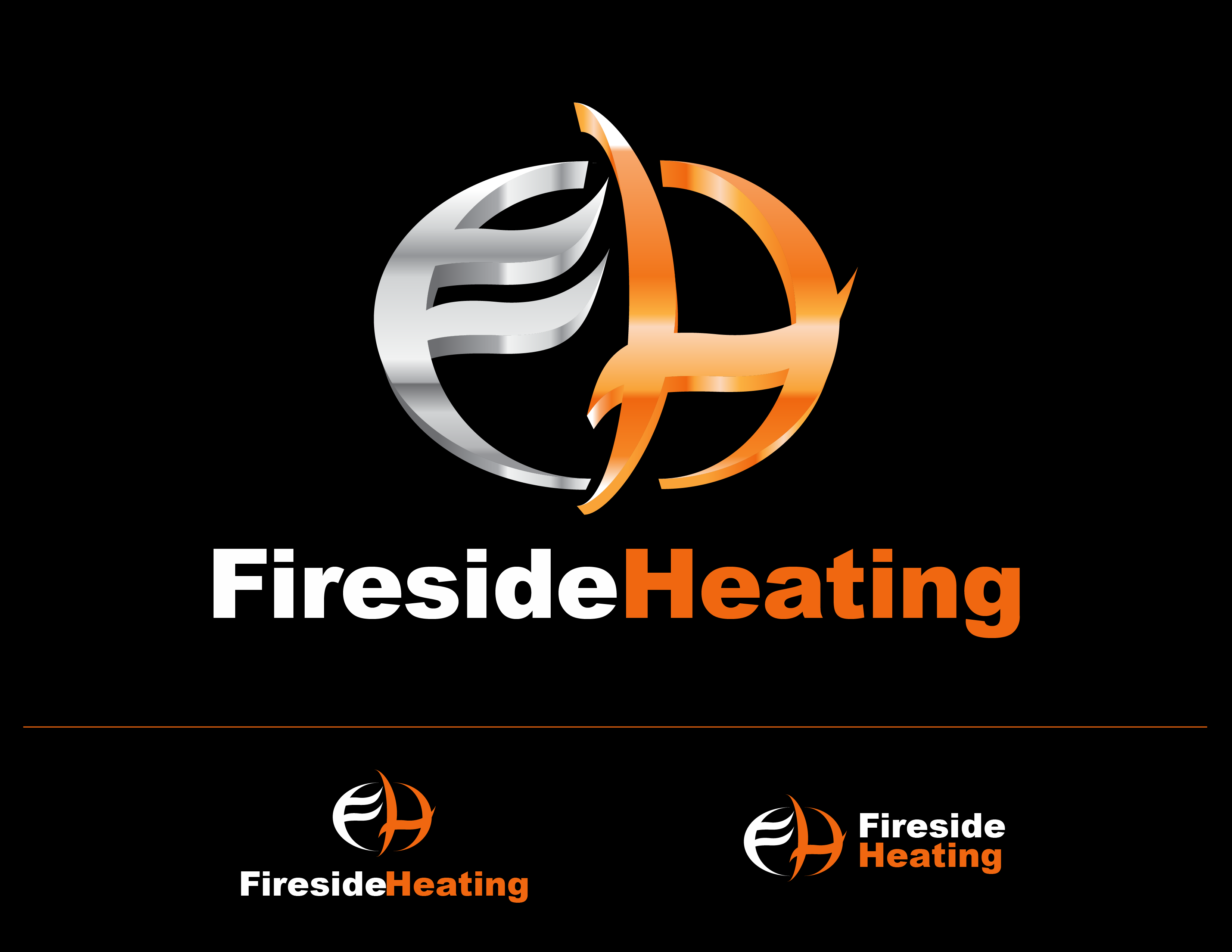 Logo Design by Andrew Velasco - Entry No. 41 in the Logo Design Contest Creative Logo Design for Fireside Heating Solutions Ltd..