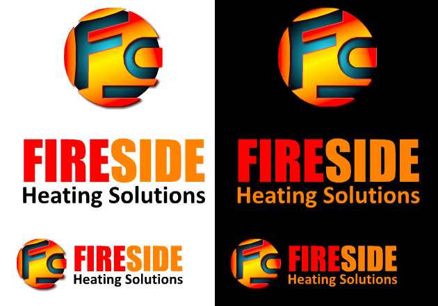 Logo Design by Ismail Adhi Wibowo - Entry No. 55 in the Logo Design Contest Creative Logo Design for Fireside Heating Solutions Ltd..