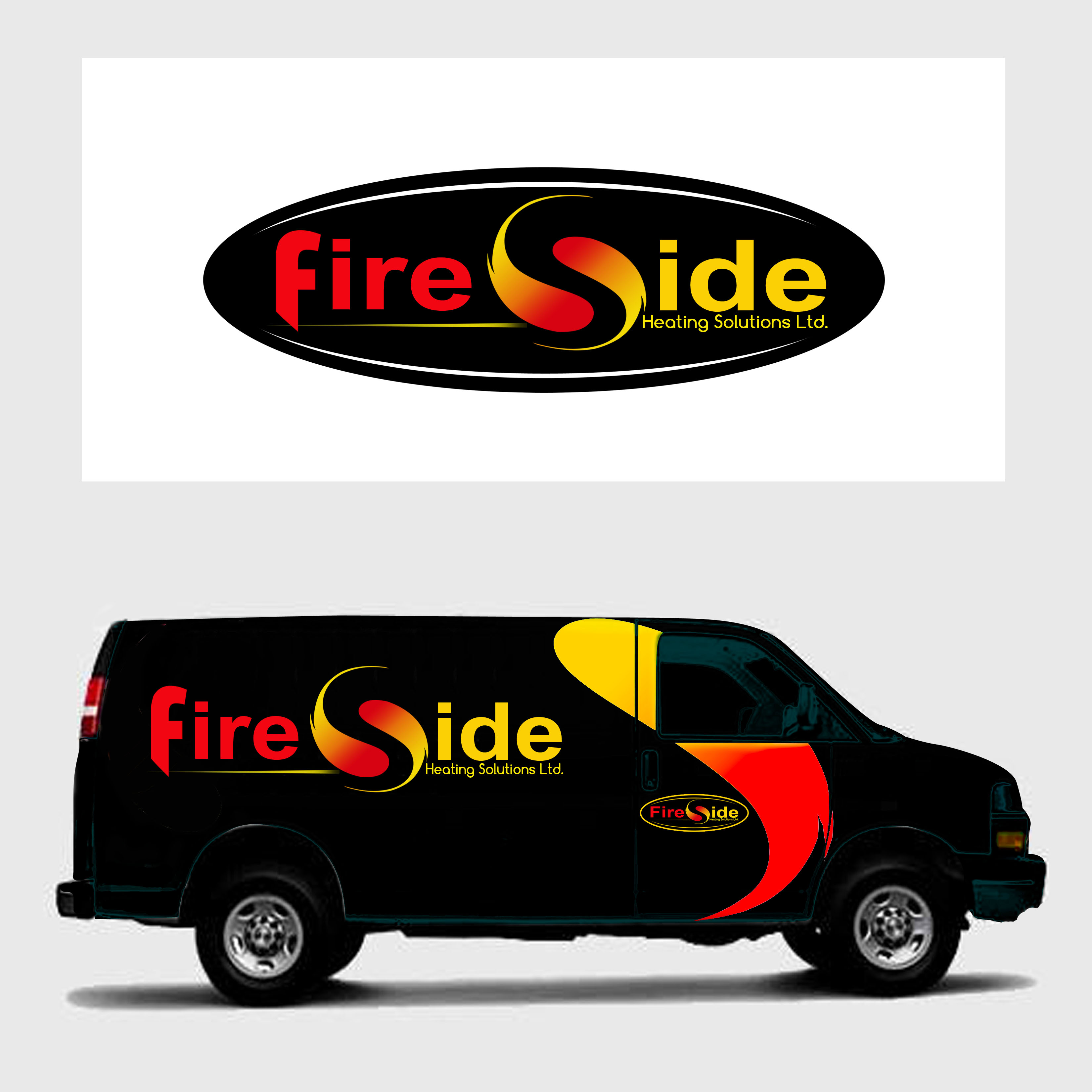 Logo Design by Allan Esclamado - Entry No. 56 in the Logo Design Contest Creative Logo Design for Fireside Heating Solutions Ltd..