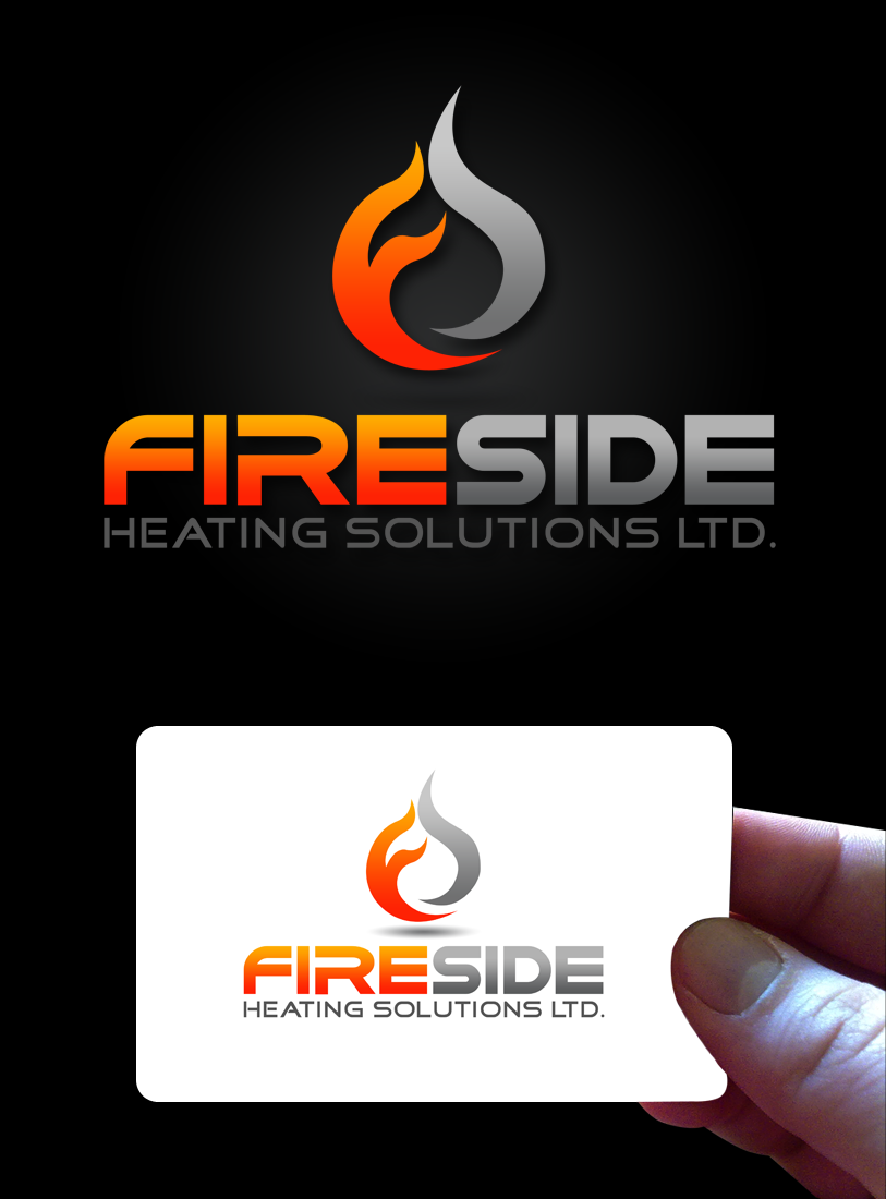 Logo Design by Private User - Entry No. 70 in the Logo Design Contest Creative Logo Design for Fireside Heating Solutions Ltd..
