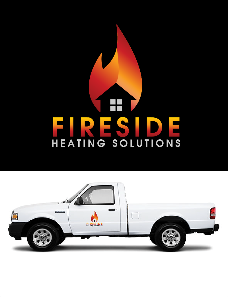 Logo Design by Private User - Entry No. 77 in the Logo Design Contest Creative Logo Design for Fireside Heating Solutions Ltd..