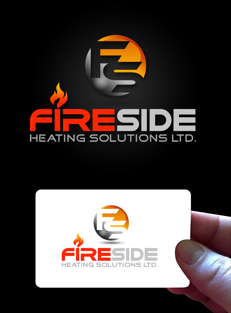 Logo Design by Robert Turla - Entry No. 79 in the Logo Design Contest Creative Logo Design for Fireside Heating Solutions Ltd..