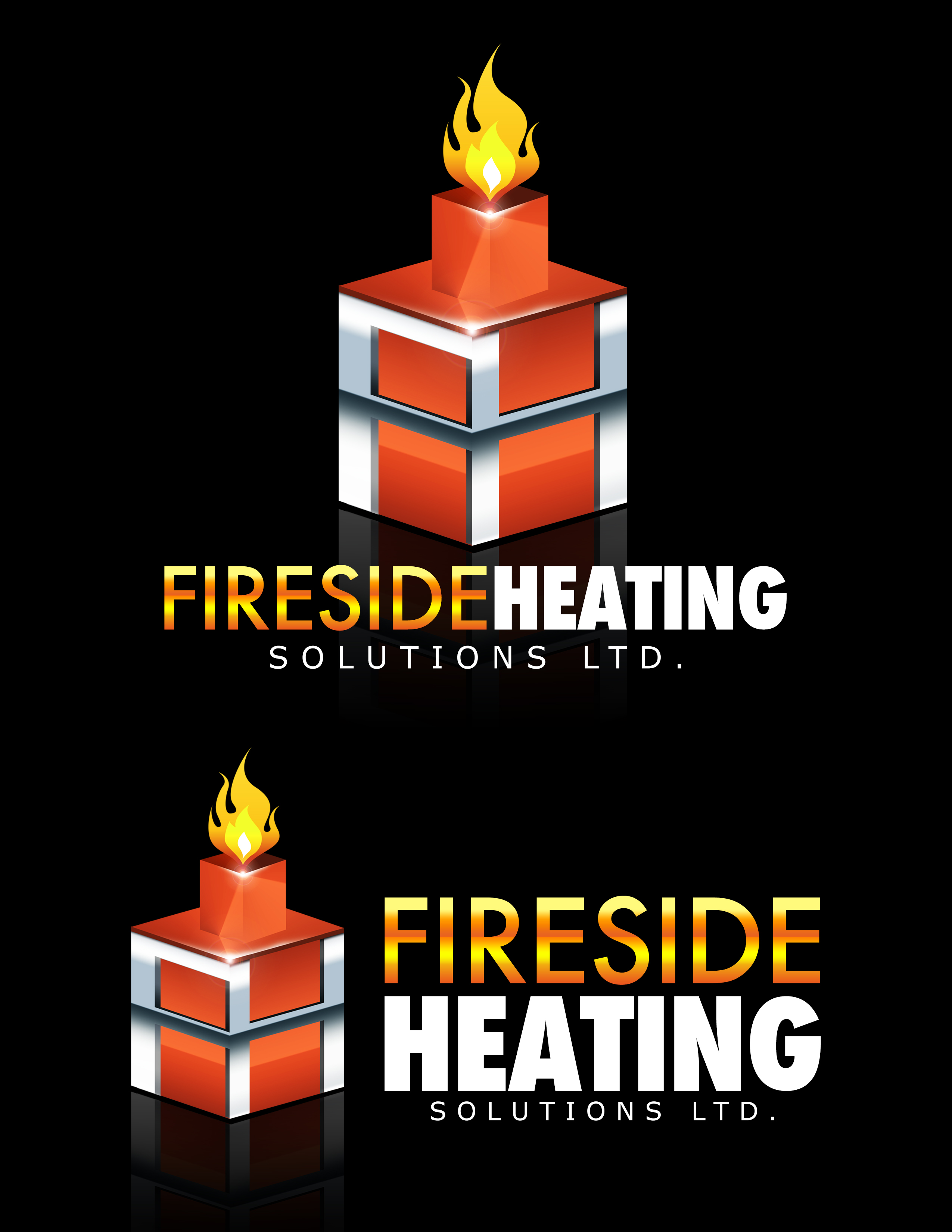 Logo Design by Andrew Velasco - Entry No. 80 in the Logo Design Contest Creative Logo Design for Fireside Heating Solutions Ltd..