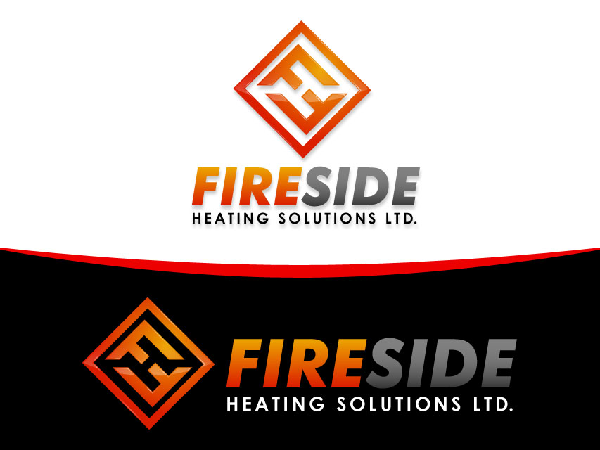 Logo Design by Richard Soriano - Entry No. 81 in the Logo Design Contest Creative Logo Design for Fireside Heating Solutions Ltd..