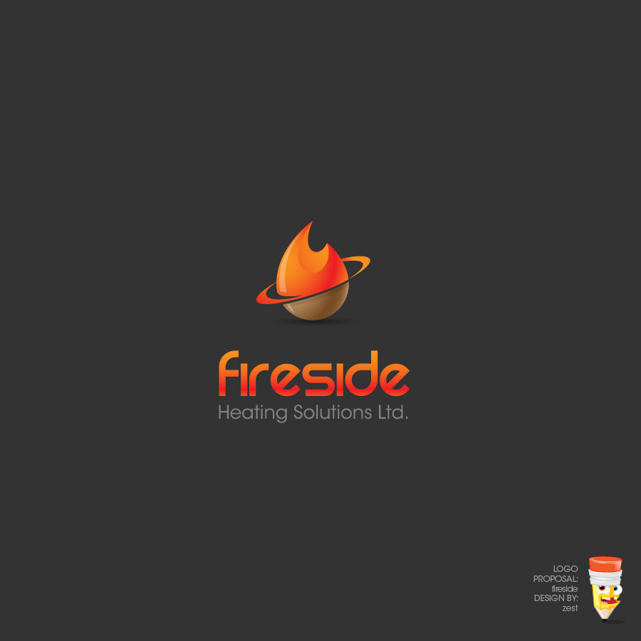 Logo Design by zesthar - Entry No. 87 in the Logo Design Contest Creative Logo Design for Fireside Heating Solutions Ltd..