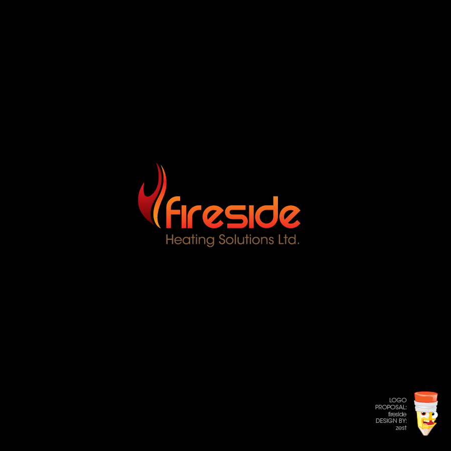 Logo Design by zesthar - Entry No. 88 in the Logo Design Contest Creative Logo Design for Fireside Heating Solutions Ltd..