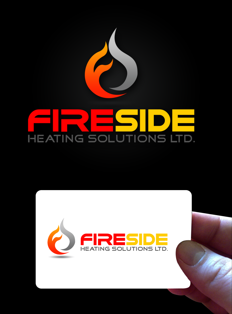 Logo Design by Private User - Entry No. 91 in the Logo Design Contest Creative Logo Design for Fireside Heating Solutions Ltd..