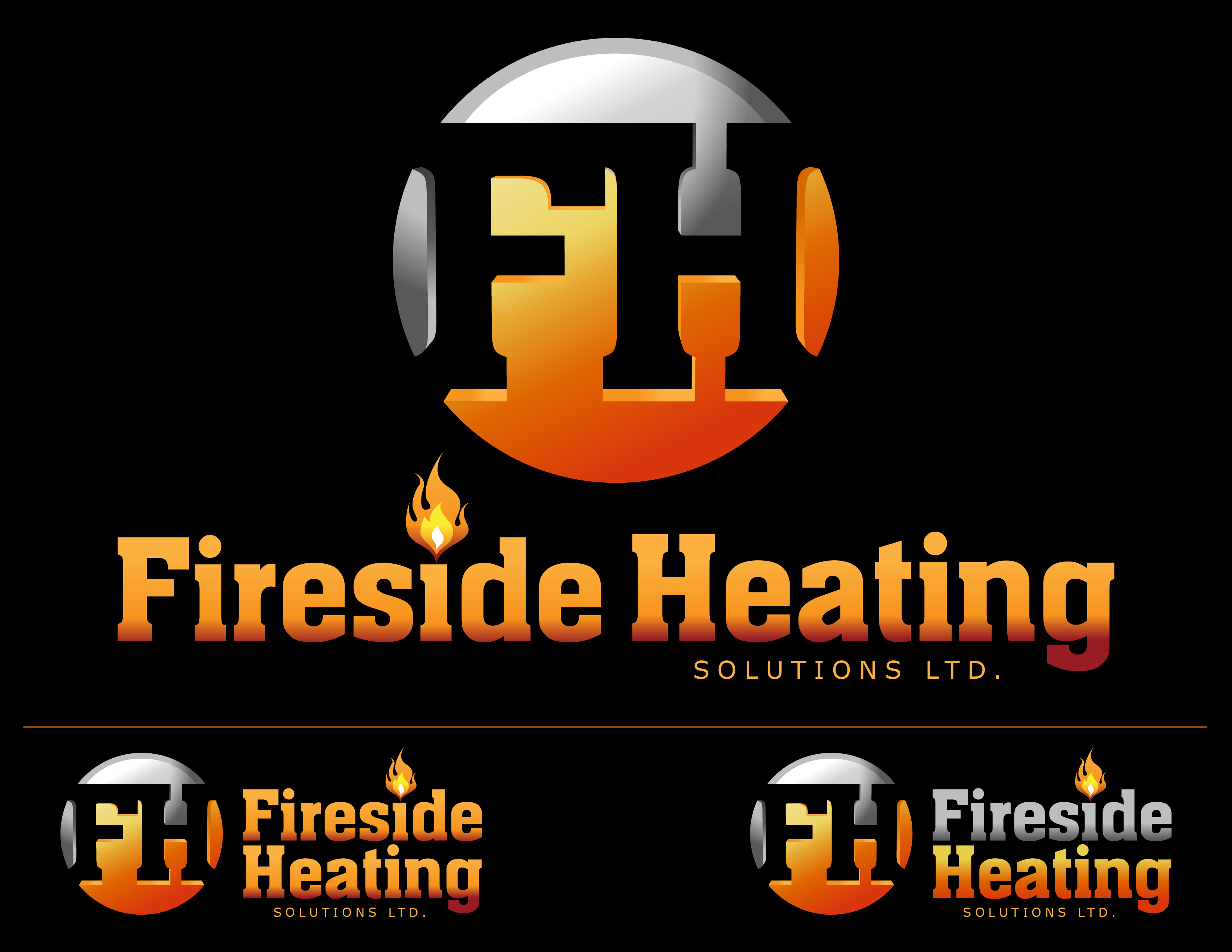 Logo Design by Andrew Velasco - Entry No. 92 in the Logo Design Contest Creative Logo Design for Fireside Heating Solutions Ltd..