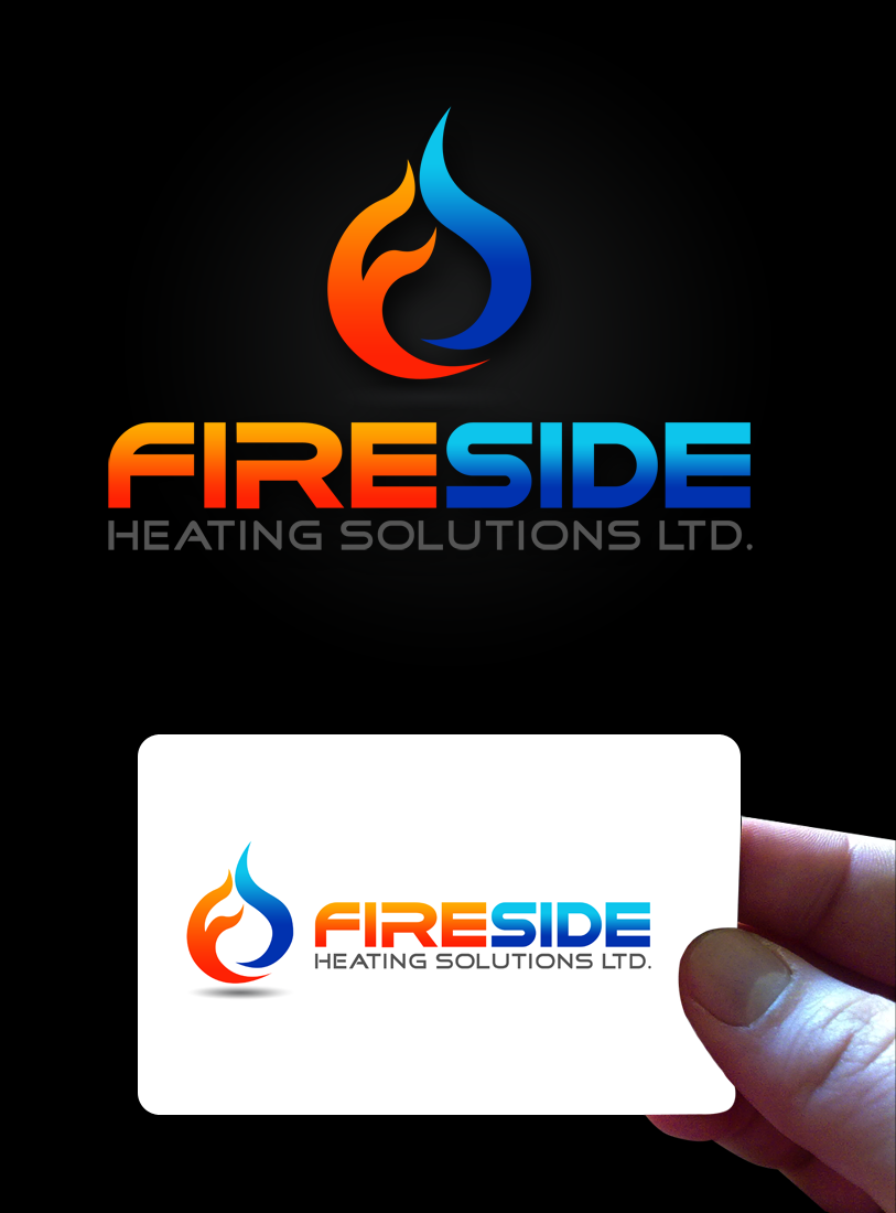 Logo Design by Private User - Entry No. 93 in the Logo Design Contest Creative Logo Design for Fireside Heating Solutions Ltd..