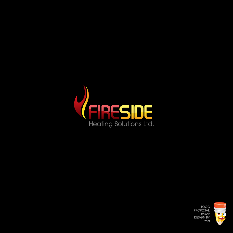 Logo Design by zesthar - Entry No. 94 in the Logo Design Contest Creative Logo Design for Fireside Heating Solutions Ltd..