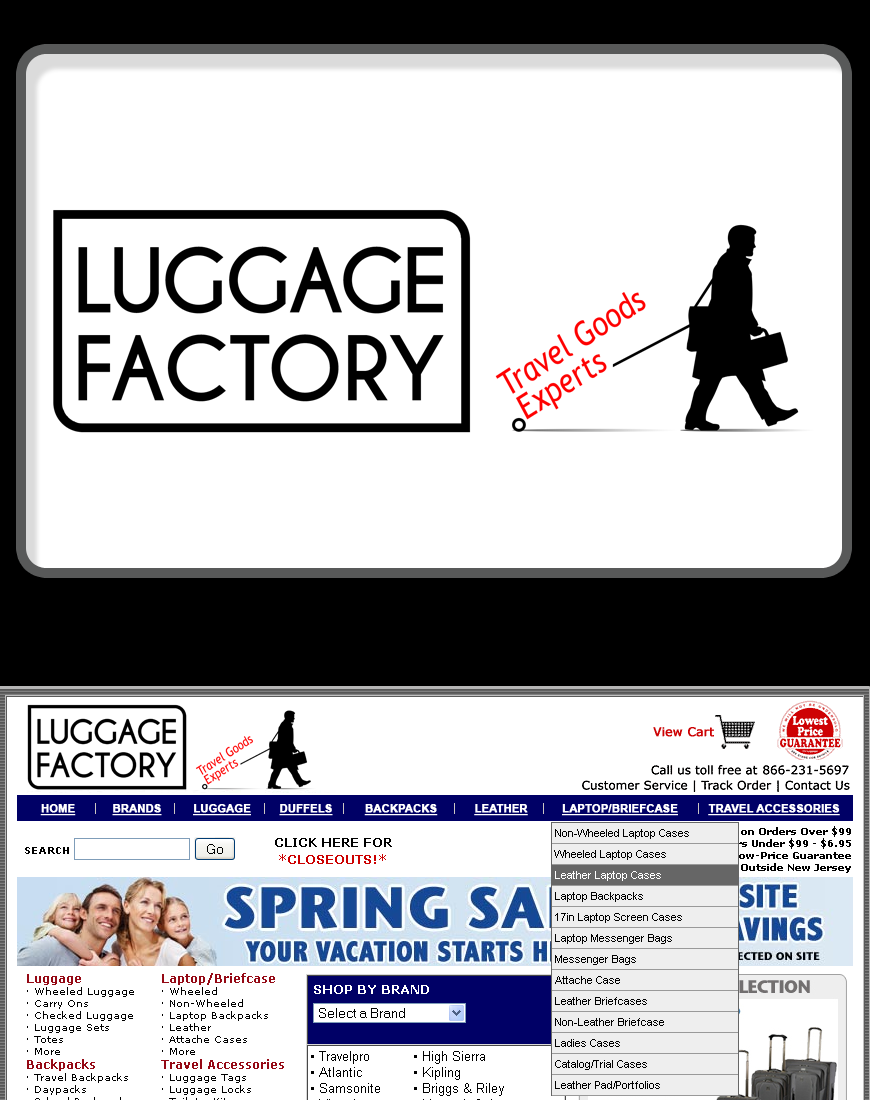 Logo Design by Robert Turla - Entry No. 77 in the Logo Design Contest Creative Logo Design for Luggage Factory.