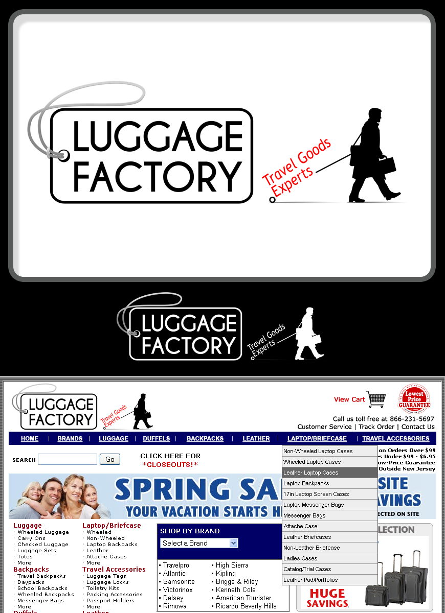 Logo Design by Robert Turla - Entry No. 79 in the Logo Design Contest Creative Logo Design for Luggage Factory.