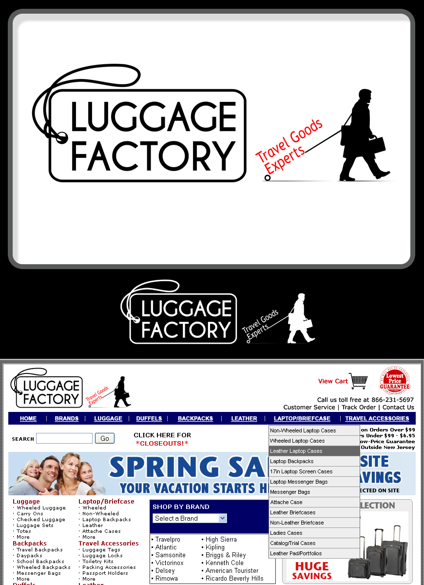 Logo Design by Robert Turla - Entry No. 81 in the Logo Design Contest Creative Logo Design for Luggage Factory.