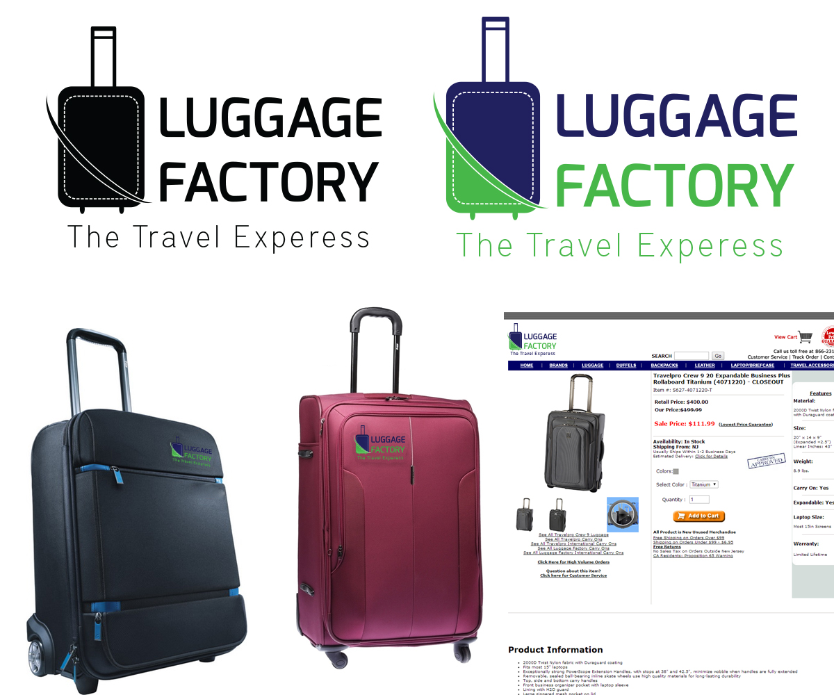 Logo Design by Umang Rathi - Entry No. 82 in the Logo Design Contest Creative Logo Design for Luggage Factory.