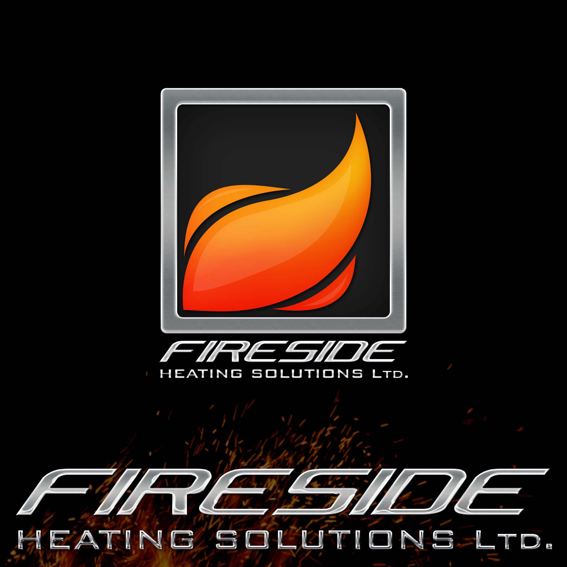 Logo Design by chAnDOS - Entry No. 113 in the Logo Design Contest Creative Logo Design for Fireside Heating Solutions Ltd..