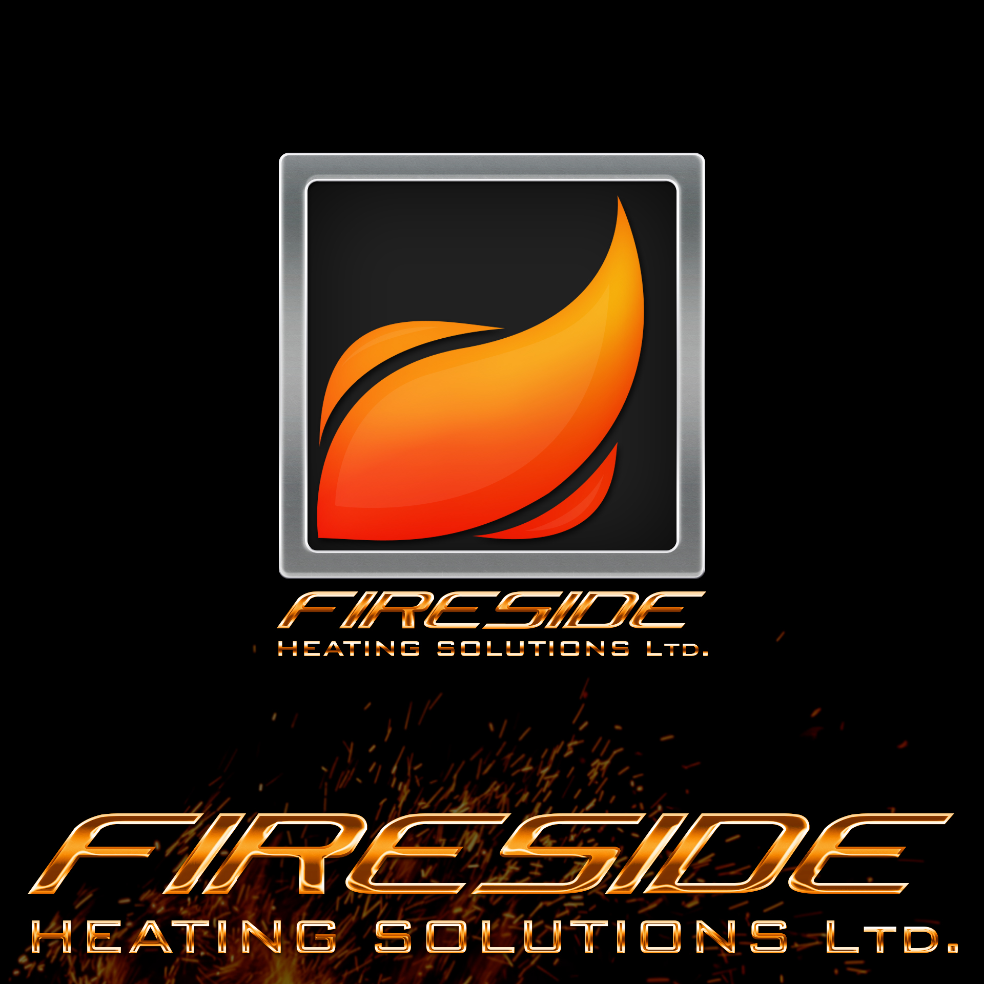 Logo Design by chAnDOS - Entry No. 114 in the Logo Design Contest Creative Logo Design for Fireside Heating Solutions Ltd..