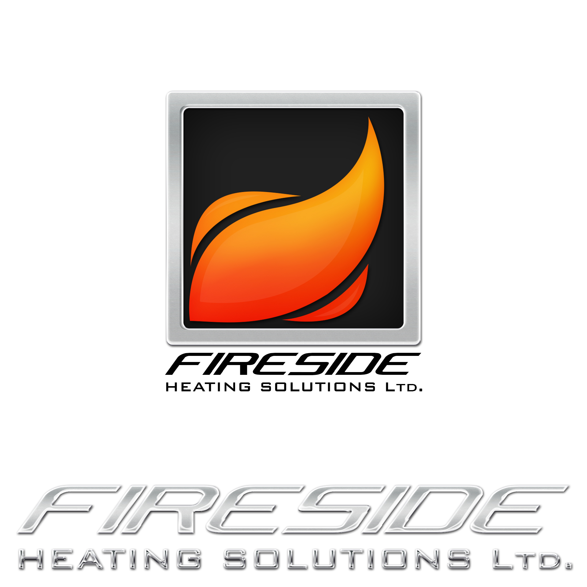 Logo Design by chAnDOS - Entry No. 115 in the Logo Design Contest Creative Logo Design for Fireside Heating Solutions Ltd..