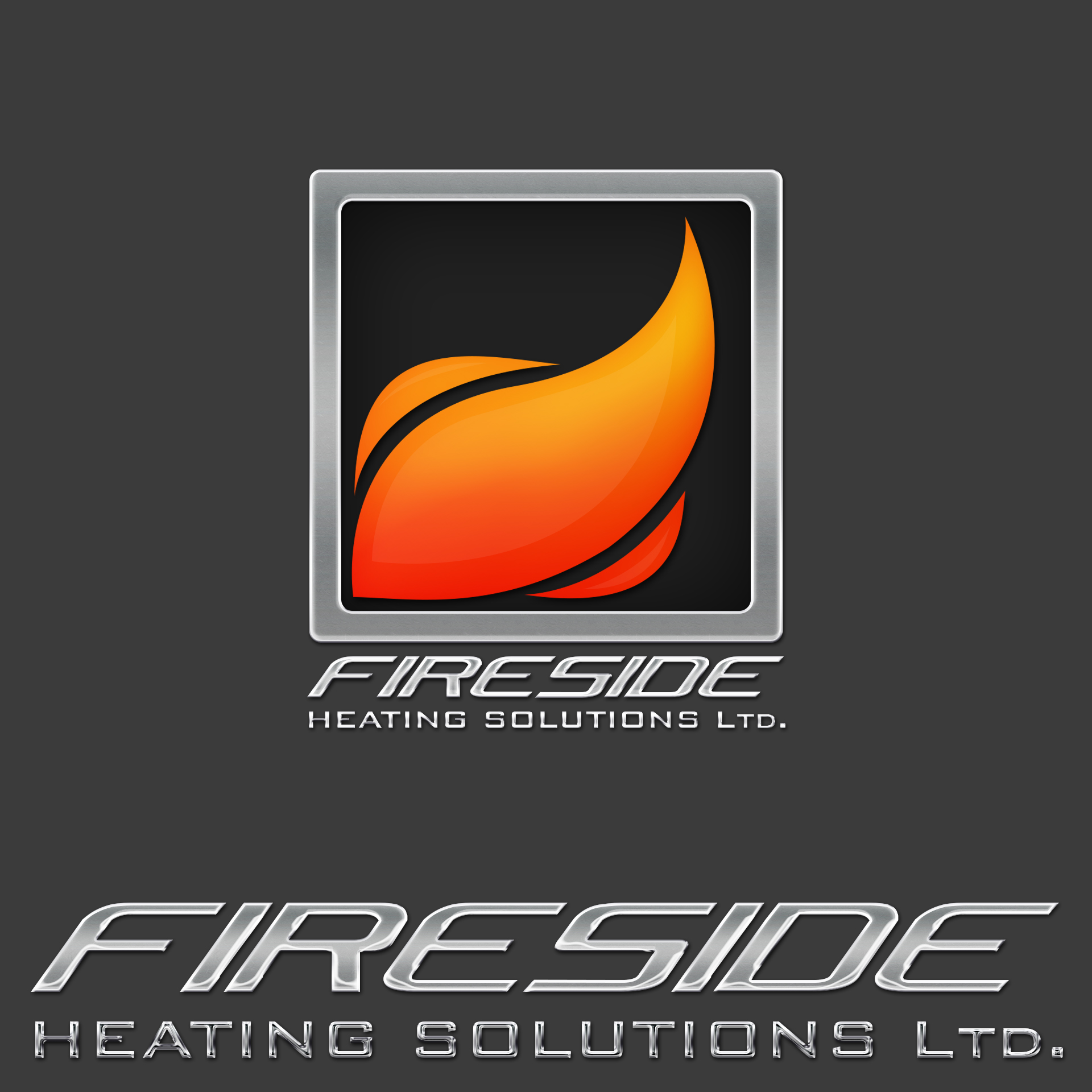 Logo Design by chAnDOS - Entry No. 116 in the Logo Design Contest Creative Logo Design for Fireside Heating Solutions Ltd..