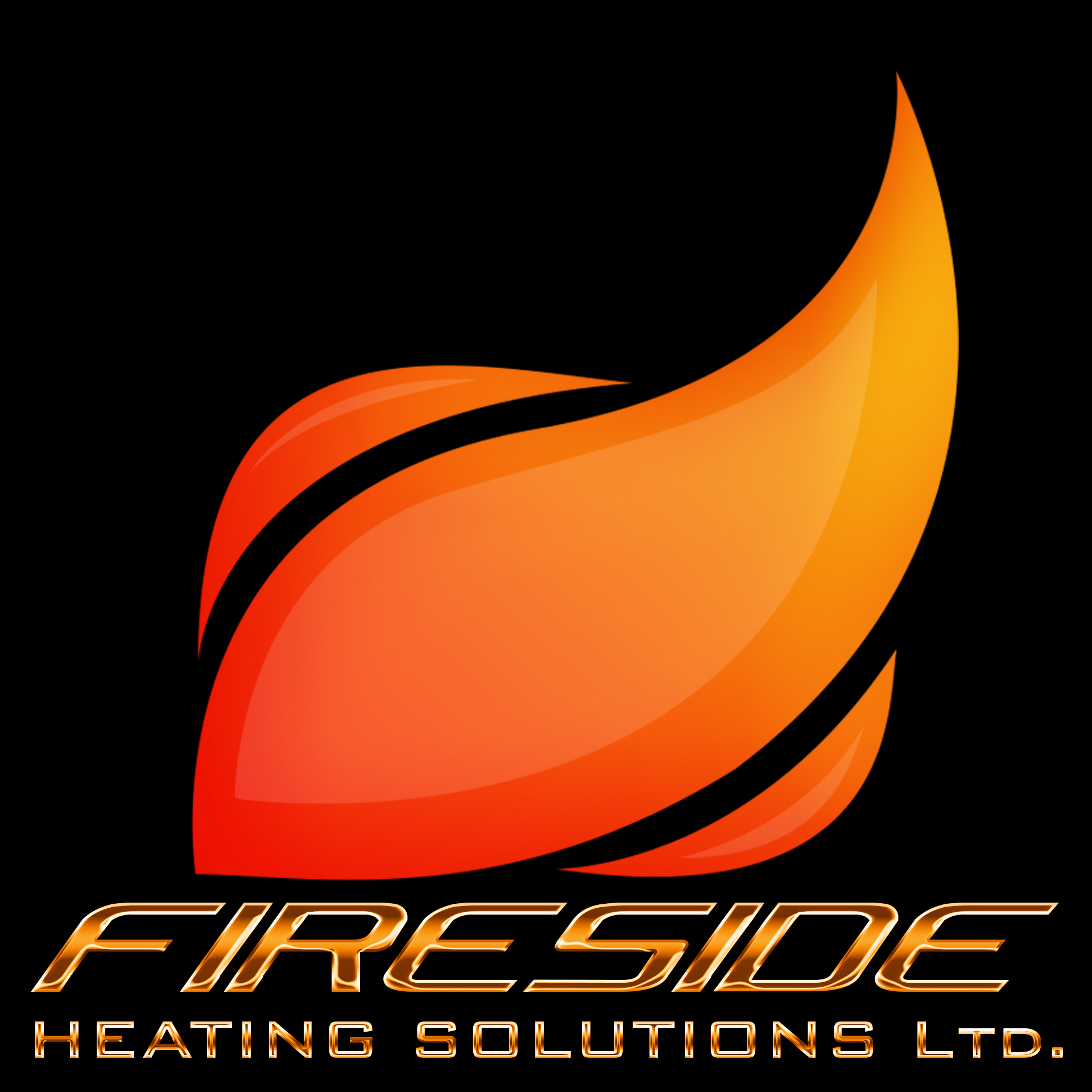 Logo Design by chAnDOS - Entry No. 119 in the Logo Design Contest Creative Logo Design for Fireside Heating Solutions Ltd..