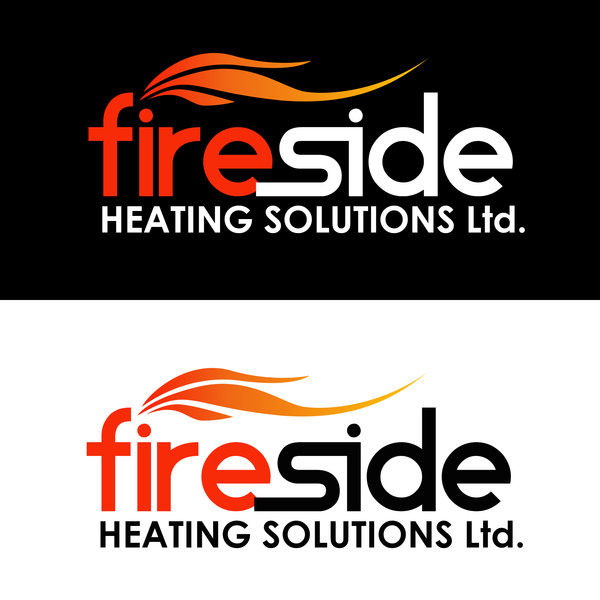 Logo Design by chAnDOS - Entry No. 122 in the Logo Design Contest Creative Logo Design for Fireside Heating Solutions Ltd..