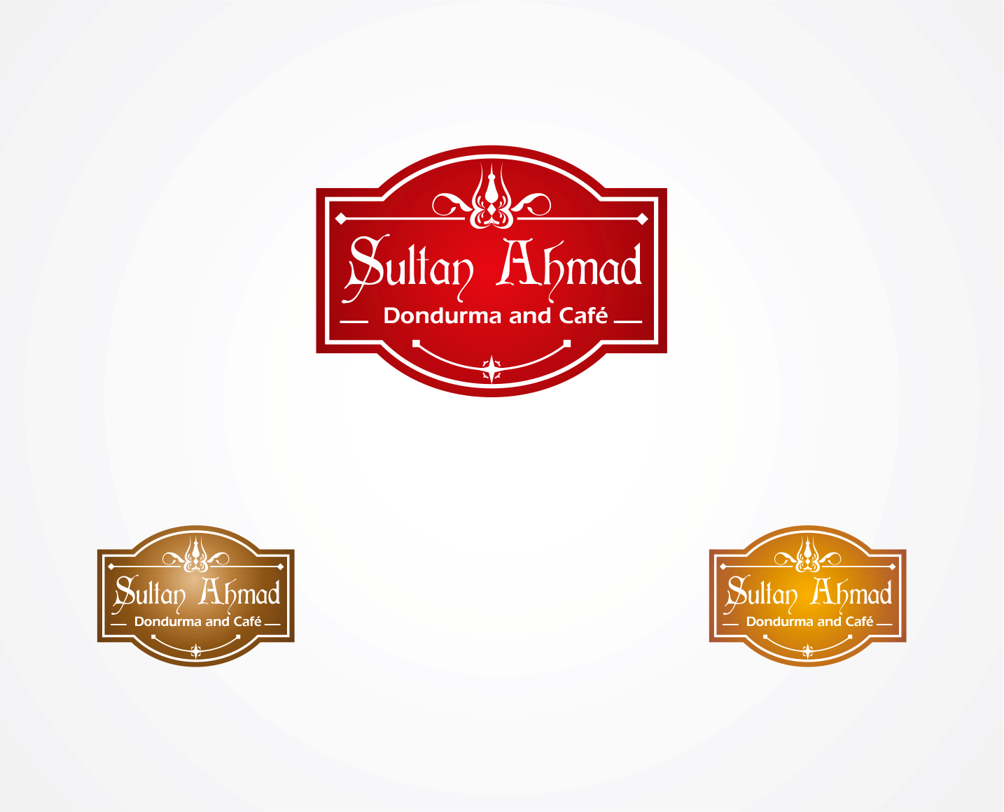 Logo Design by Armada Jamaluddin - Entry No. 14 in the Logo Design Contest Unique Logo Design Wanted for Sultan Ahmed Dondurma and Cafe.