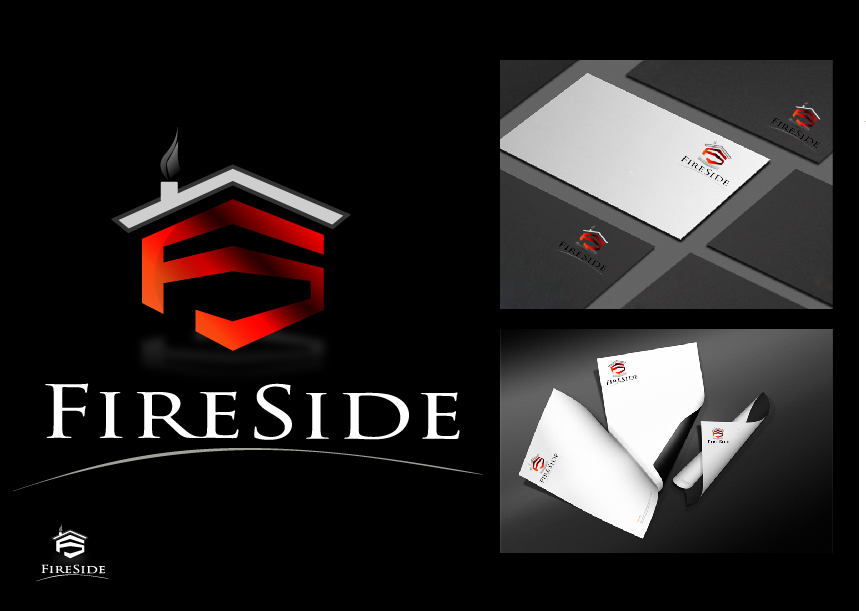Logo Design by drunkman - Entry No. 125 in the Logo Design Contest Creative Logo Design for Fireside Heating Solutions Ltd..