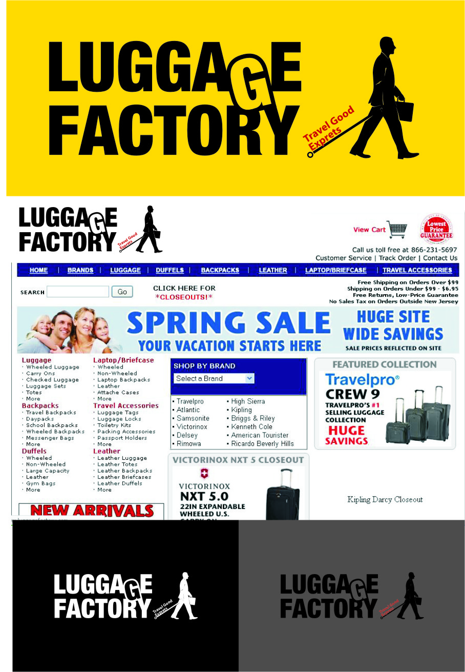 Logo Design by RasYa Muhammad Athaya - Entry No. 87 in the Logo Design Contest Creative Logo Design for Luggage Factory.