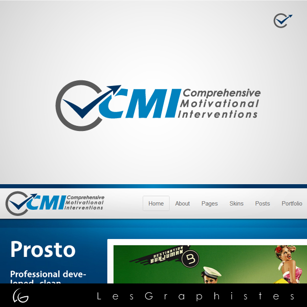 Logo Design by Les-Graphistes - Entry No. 51 in the Logo Design Contest CMI (Comprehensive Motivational Interventions).