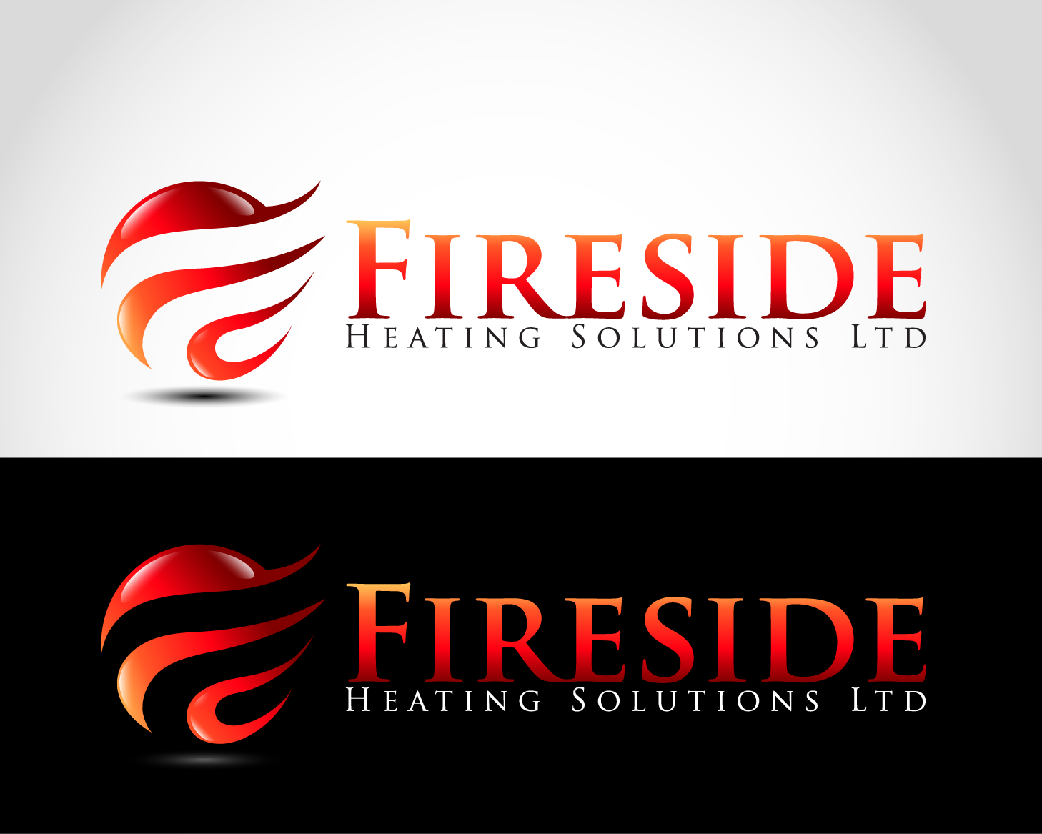 Logo Design by nirarajgraphics - Entry No. 127 in the Logo Design Contest Creative Logo Design for Fireside Heating Solutions Ltd..
