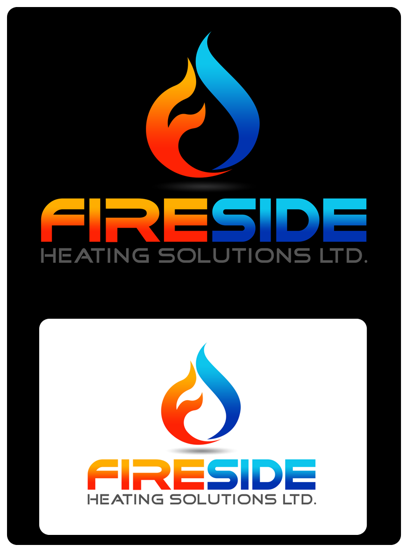 Logo Design by Private User - Entry No. 133 in the Logo Design Contest Creative Logo Design for Fireside Heating Solutions Ltd..