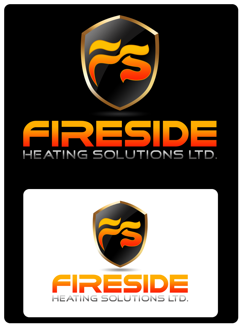 Logo Design by Robert Turla - Entry No. 136 in the Logo Design Contest Creative Logo Design for Fireside Heating Solutions Ltd..