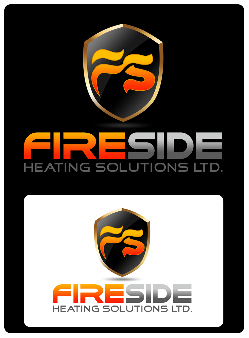 Logo Design by Robert Turla - Entry No. 137 in the Logo Design Contest Creative Logo Design for Fireside Heating Solutions Ltd..