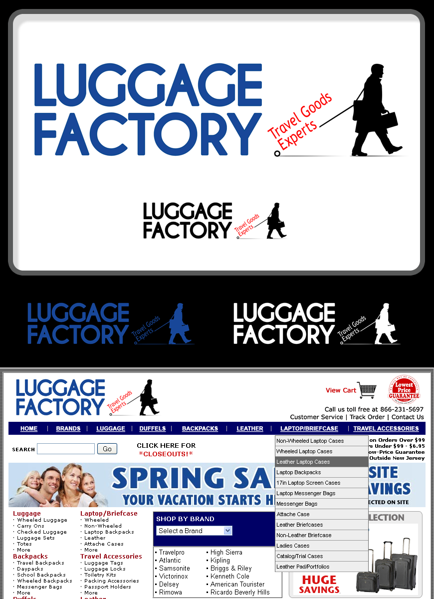 Logo Design by Robert Turla - Entry No. 92 in the Logo Design Contest Creative Logo Design for Luggage Factory.