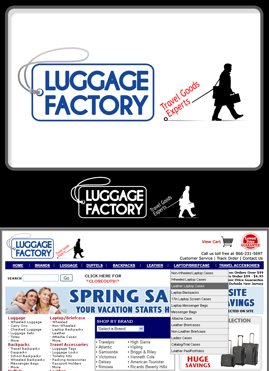Logo Design by Robert Turla - Entry No. 93 in the Logo Design Contest Creative Logo Design for Luggage Factory.