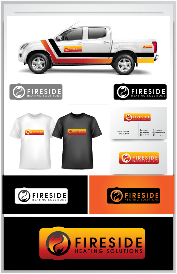 Logo Design by Private User - Entry No. 146 in the Logo Design Contest Creative Logo Design for Fireside Heating Solutions Ltd..